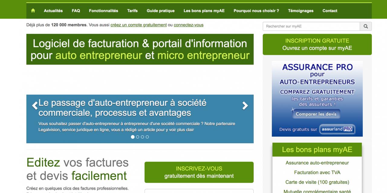 MyAE : logiciel de facture et devis pour auto entrepreneur