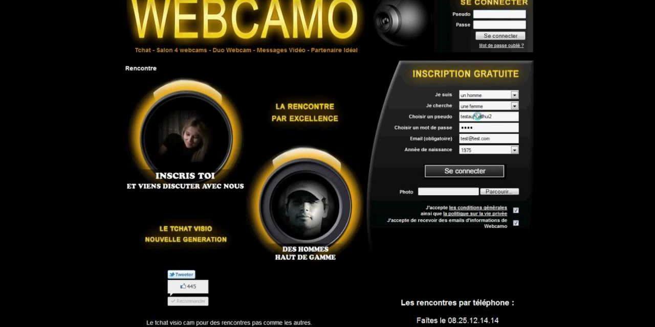 Annuaire des site de rencontre Tchat et Webcam