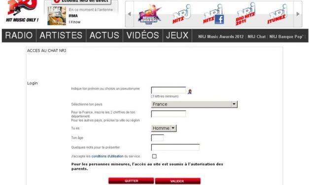 Chat gratuit NRJ.fr