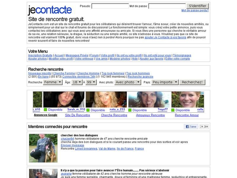 site de rencontres gratuit je contacte com
