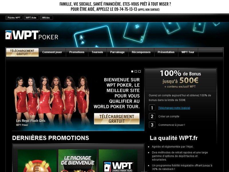 Wpt.fr : Poker en ligne sur WPT Poker, Texas Hold'Em, 200 € de bonus