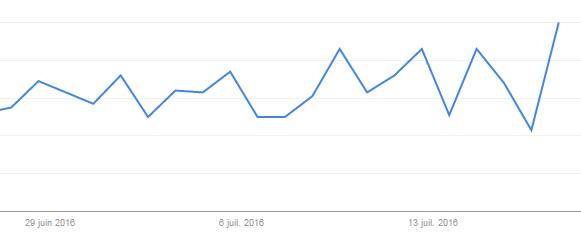 Garde du corps Google Trends