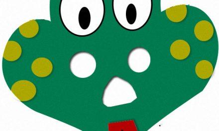 Bricolage de masque de grenouille, simple à fabriquer pour le carnaval