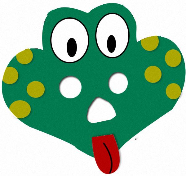 Masque de grenouille, bricolage enfants