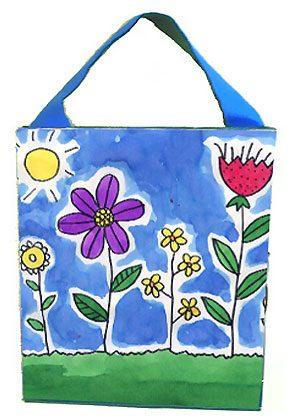 Petit sac à mains en carton, fabrication bricolage pour petite fille