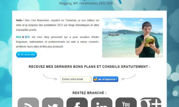 Blog pour webmaster et référenceur